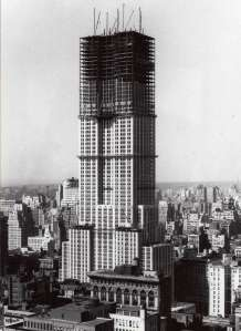 In 1929, at the time the Empire State Building was built, buildings were much shorter.